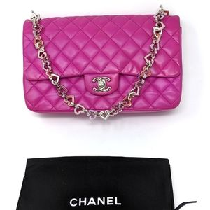 CHANEL Fuchsia Pink Valentine hearts More pictures